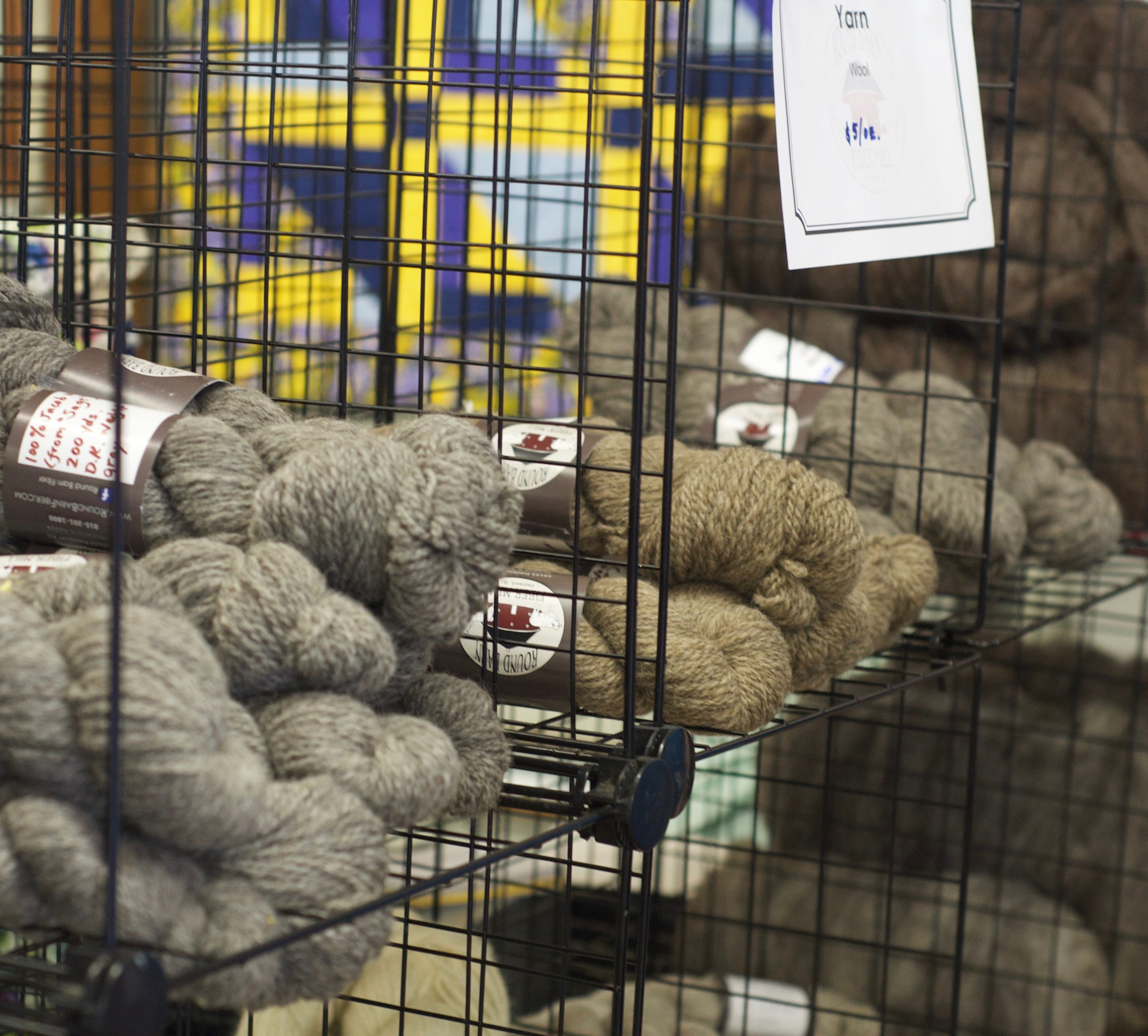 Yarns sold by the ounce from Round Barn Fiber Mill
