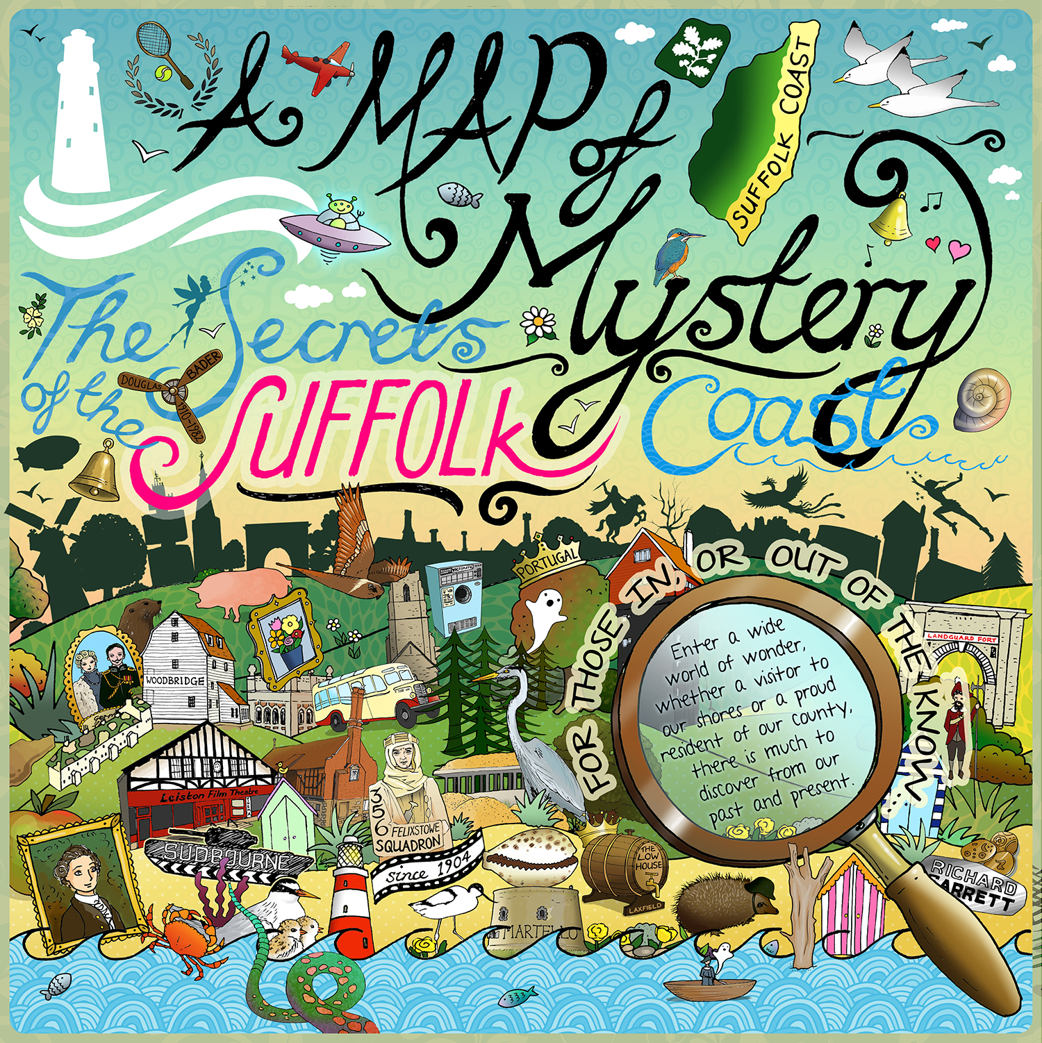 A Map of Mystery - The Secrets of the Suffolk Coast, by Reb Capper for Steamboat Creative