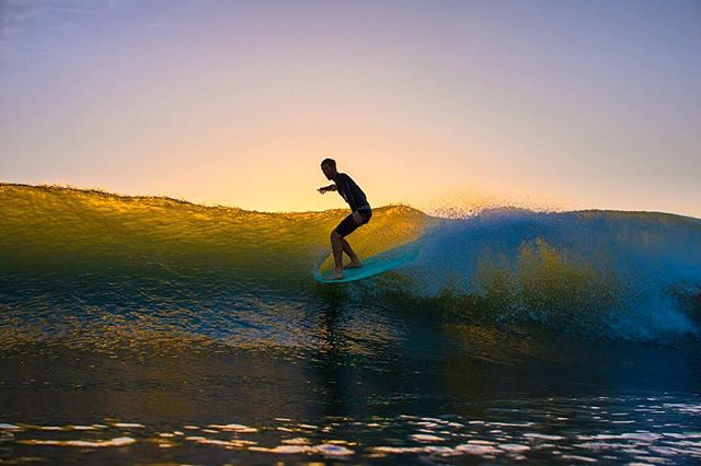High tide sunrises are for longboarding.