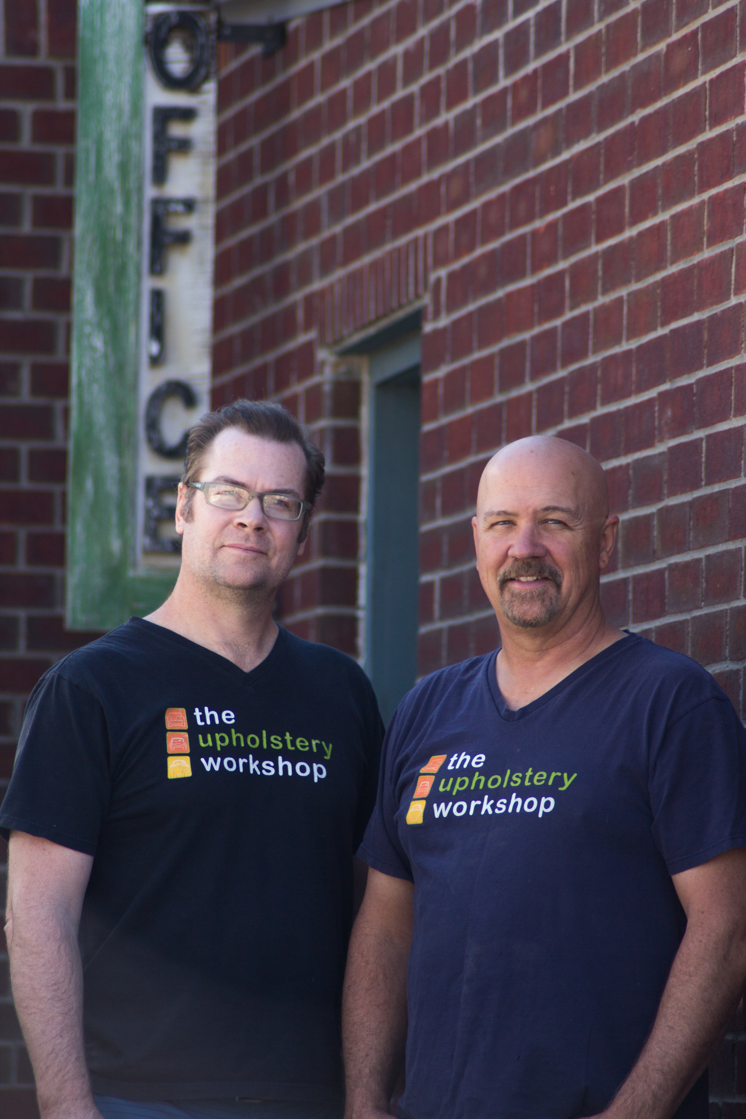 CHRIS WHITE & DOUG WHITE, OWNERS OF THE UPHOLSTERY WORKSHOP