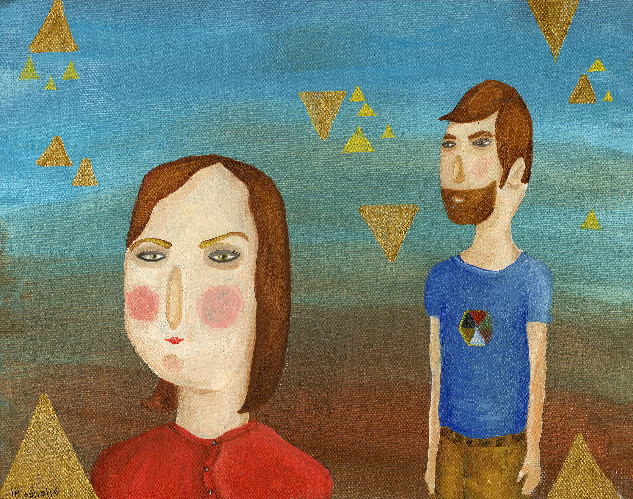 Couple with Triangles