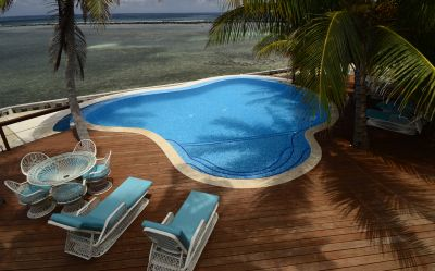 saltwater pool in Belize