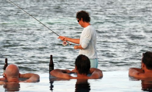 Watch bonefishing in Belize from our infinity pool