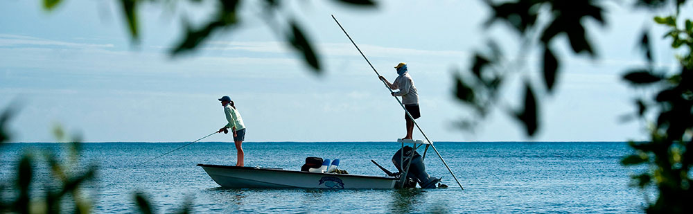 Fly Fishing in Belize for bonefish, tarpon, and permit at these locations on Turneffe Atoll.