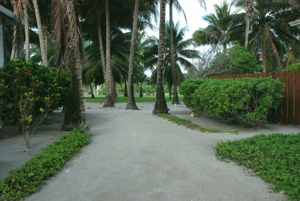Path to the reef villa at Turneffe Flats