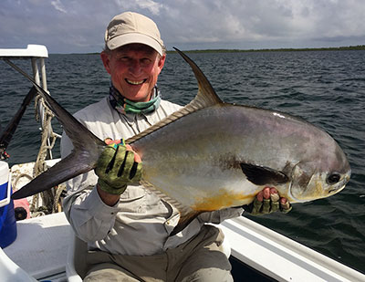Belize fly fishing trophy.  The elusive permit.