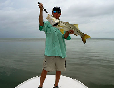 Fishing for snook in Belize
