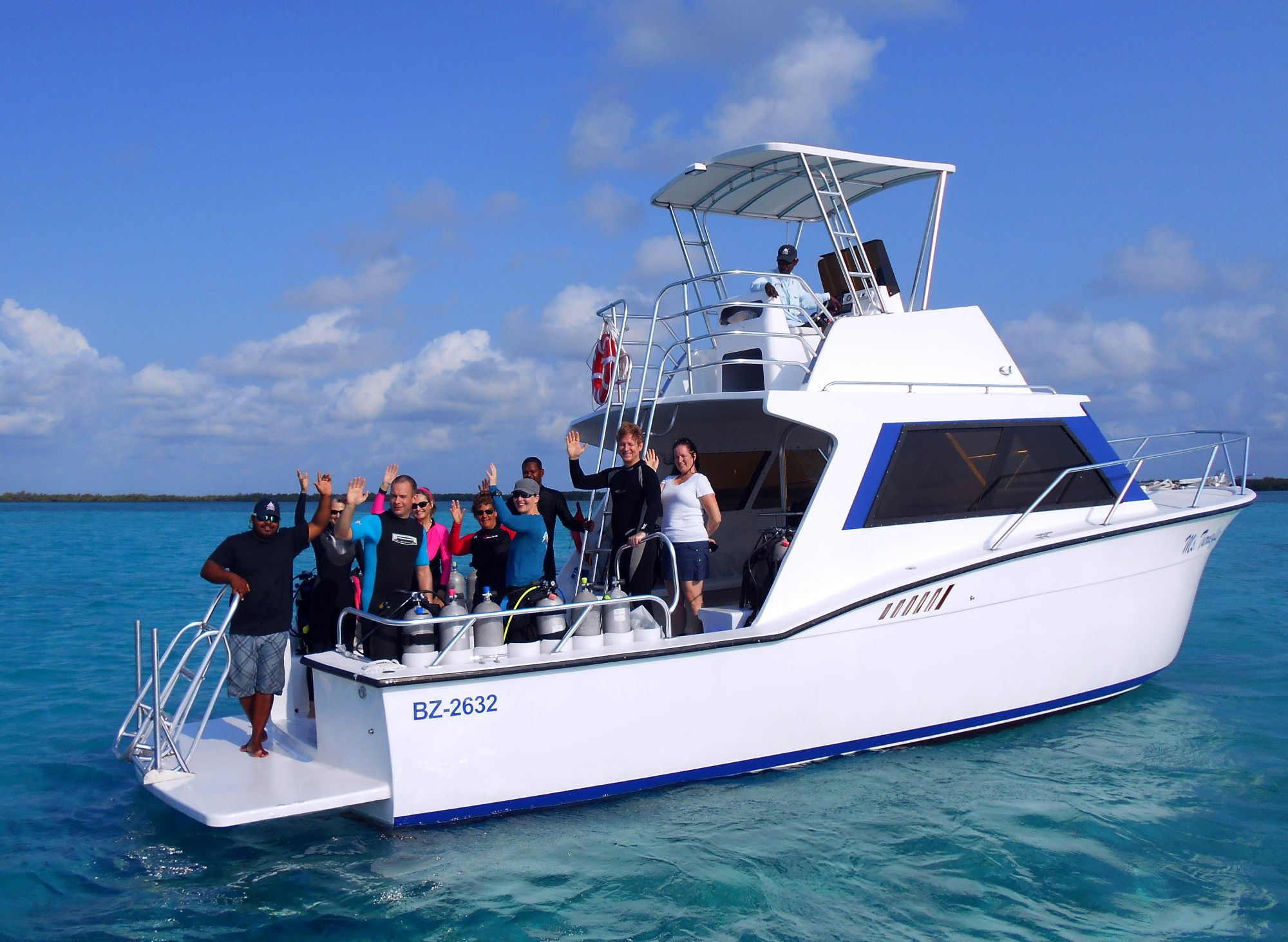 Custom Scuba diving boat