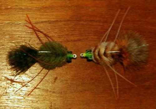 Permit Flies for fishing in Belize.