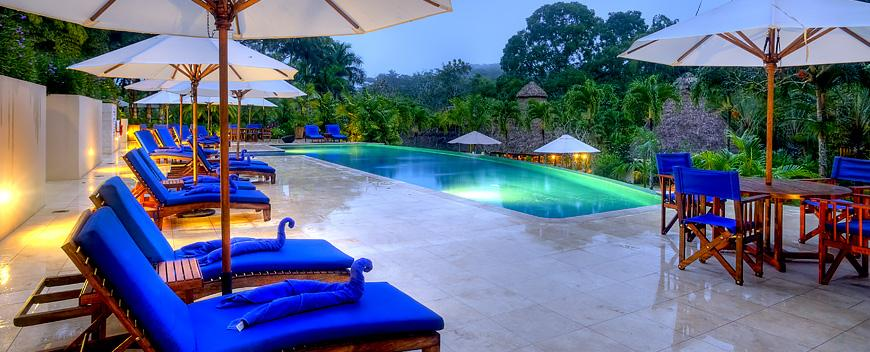 The pool at Chaa Creek Belize