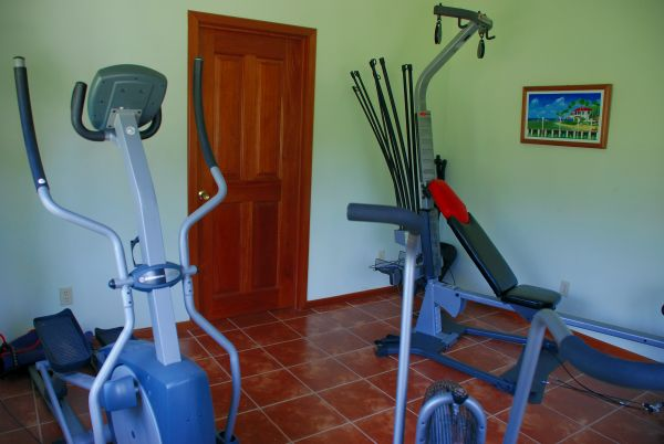 Exercise room at Turneffe Flats