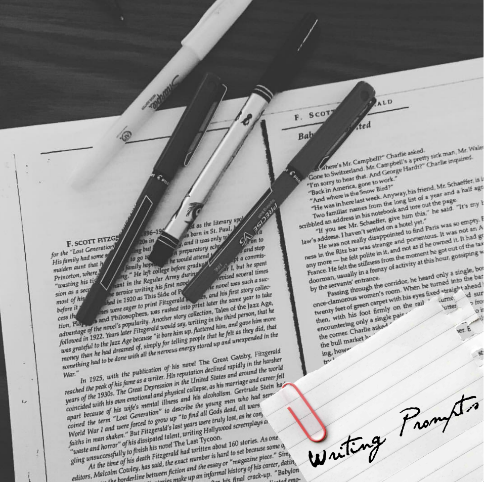 Prompts can help you just get your writing out, from helping you with a character or scene by throwing in an element, or even just writing  something. Sometimes the beset thing to do with your writer's block is to just write, even if it has nothing to do with your book. There are prompts here that will help you.