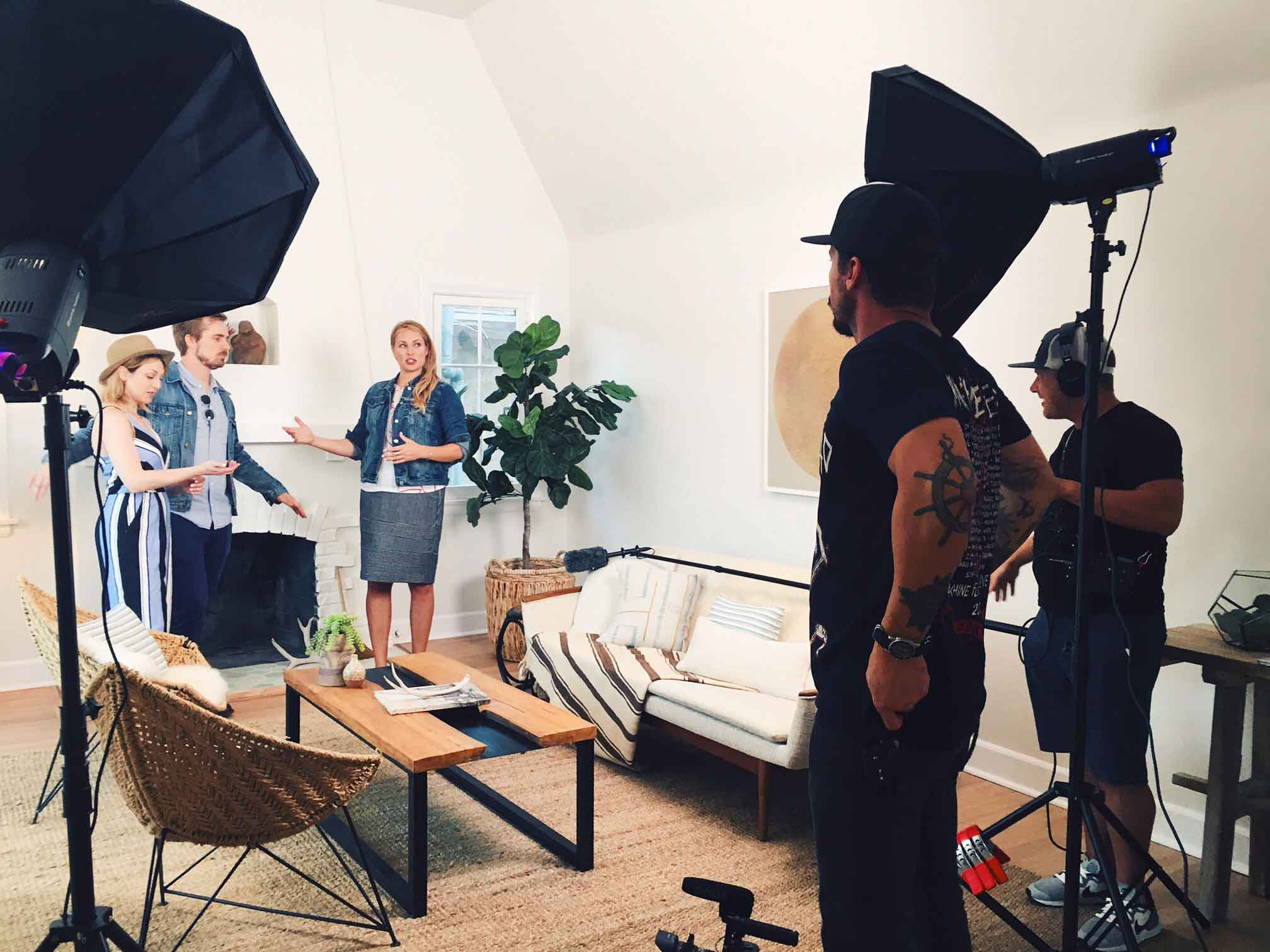 "Behind the scenes at our latest Reality Pilot Video production in Los Angeles for ""Hood & Home"""