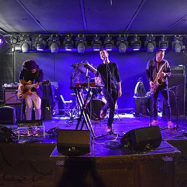 Soundcheck...CHECK! We're all set to go tonight at the legendary Mercury Lounge. See you soon! . . . . . . #livemusic #newyork #les #cmyk #mercurylounge #tonight