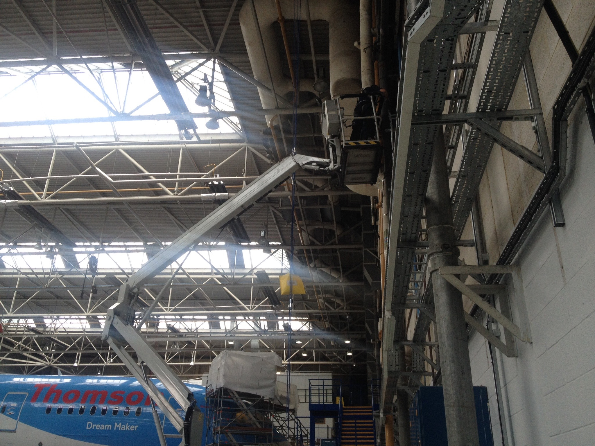 Cable tray installation Luton Airport.jpg