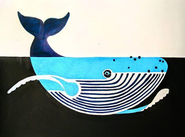 Weekend whale! To celebrate the wonderful weather!! . . . #whales #whaleillustration #oceaninspiration #instaanimal #kidlitart #kidsprints #poscapens #sketchbook #drawing #imadethis #illustrator
