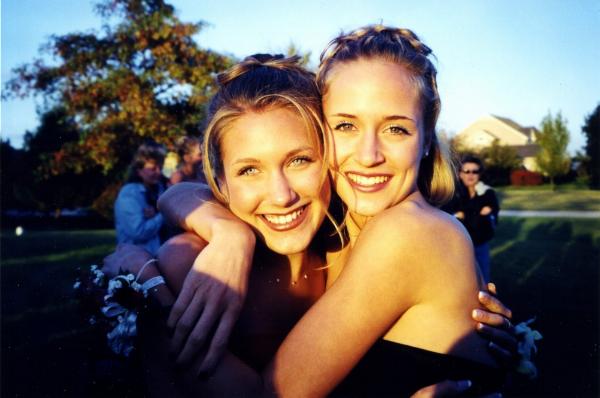 Amy and Tina, circa 1999