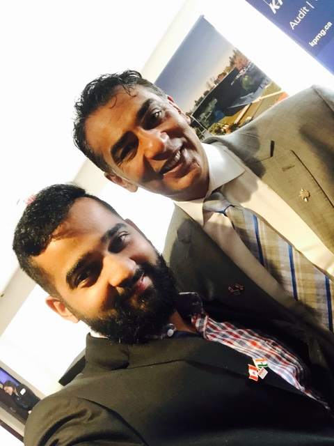 Samarth Mod (Co-Founder and CEO of AirSenze/FreshWorks) with the Minister of Technology, Innovation and Citizens' Services