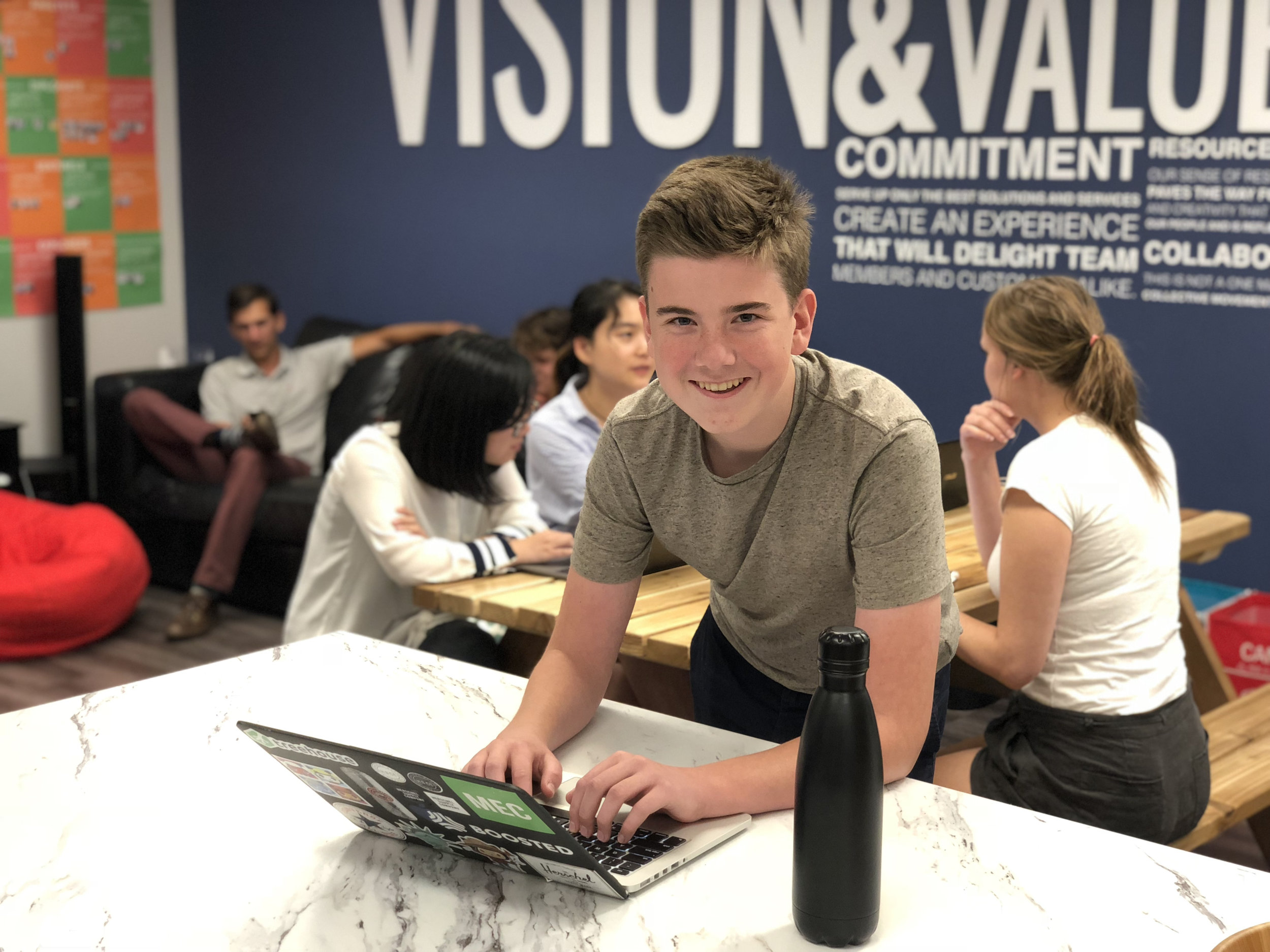 One of Alec's first days at FreshWorks in Summer 2018