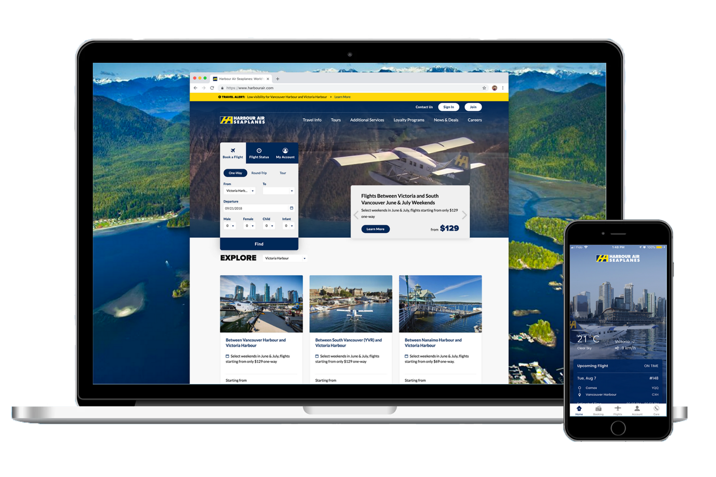 Harbour Air - Booking numbers take flight with new mobile apps and a website redesign.