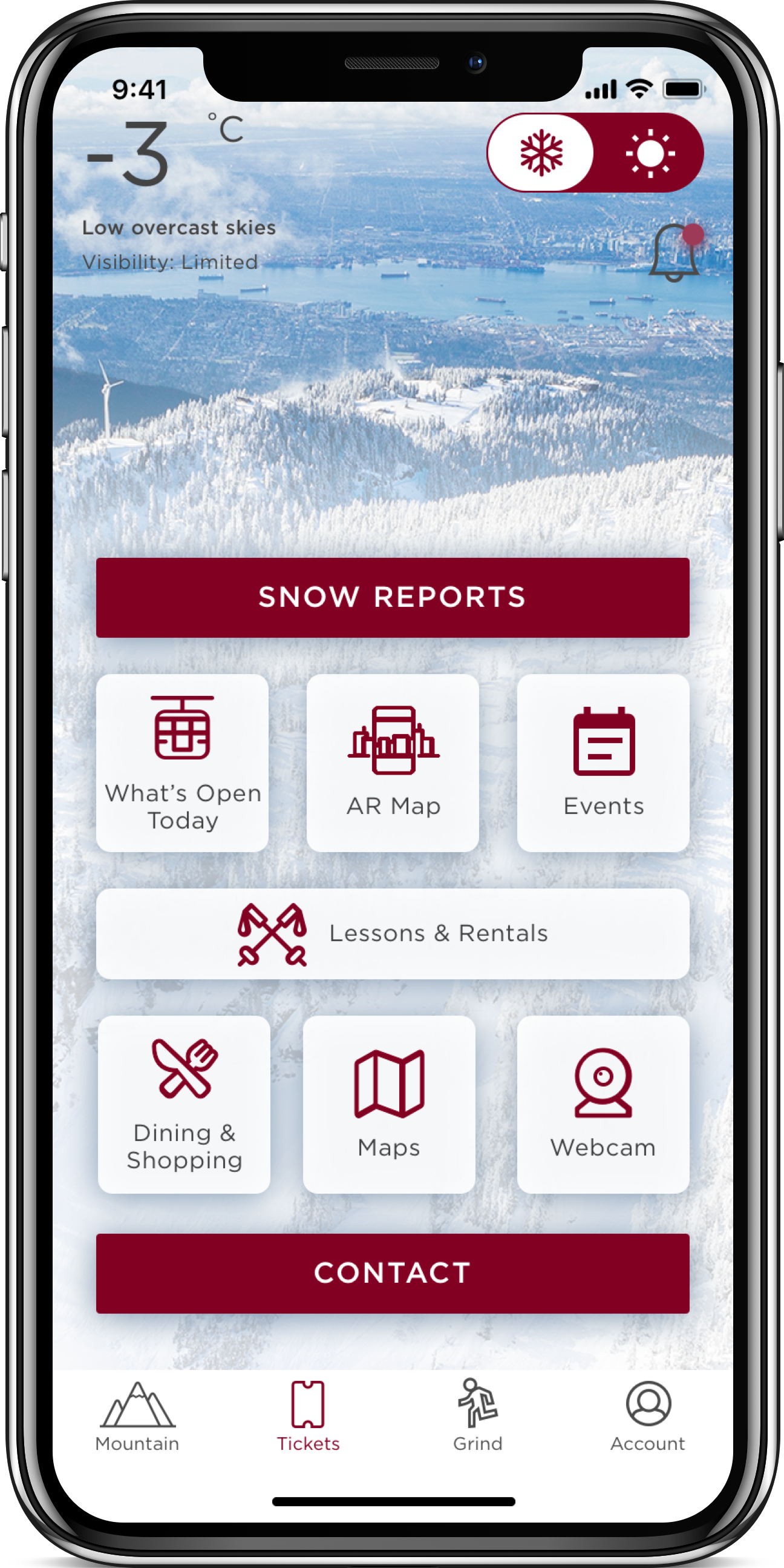 Grouse Mountain iOS Application