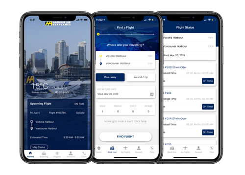 Harbour Air mobile app development by FreshWorks Studio