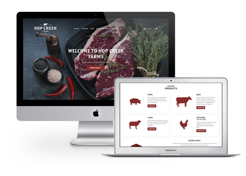 Hop Creek Farms Web Application by FreshWorks Studio