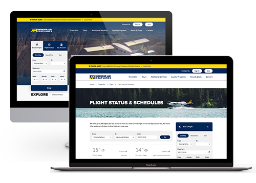 Harbour Air website development by FreshWorks Studio