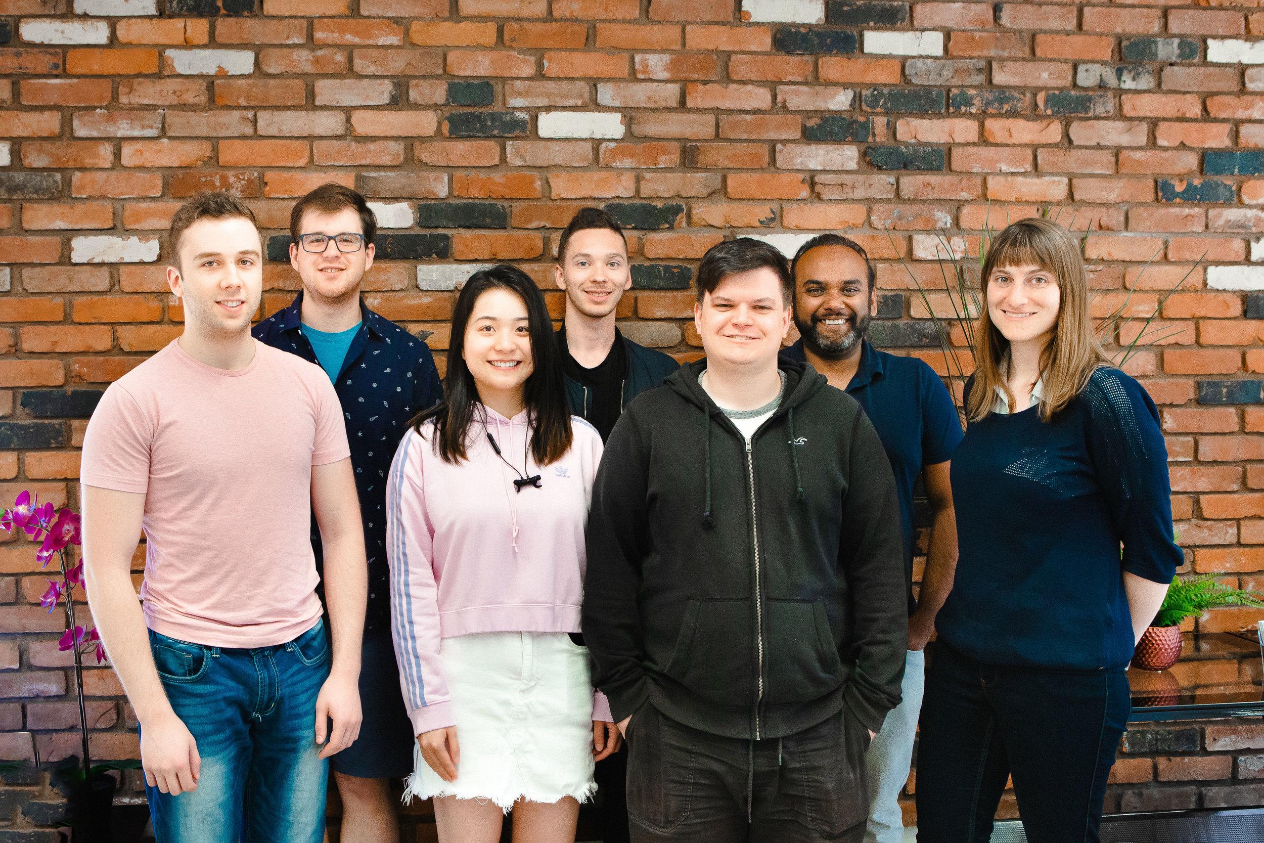 APFM Project Team. From left to right: Jared Jewitt, Adam Dubicki, Vivian Zhang, Brendan Walker, JP DuBouchard, Rachit Khare, Kendall Olsen-Maier