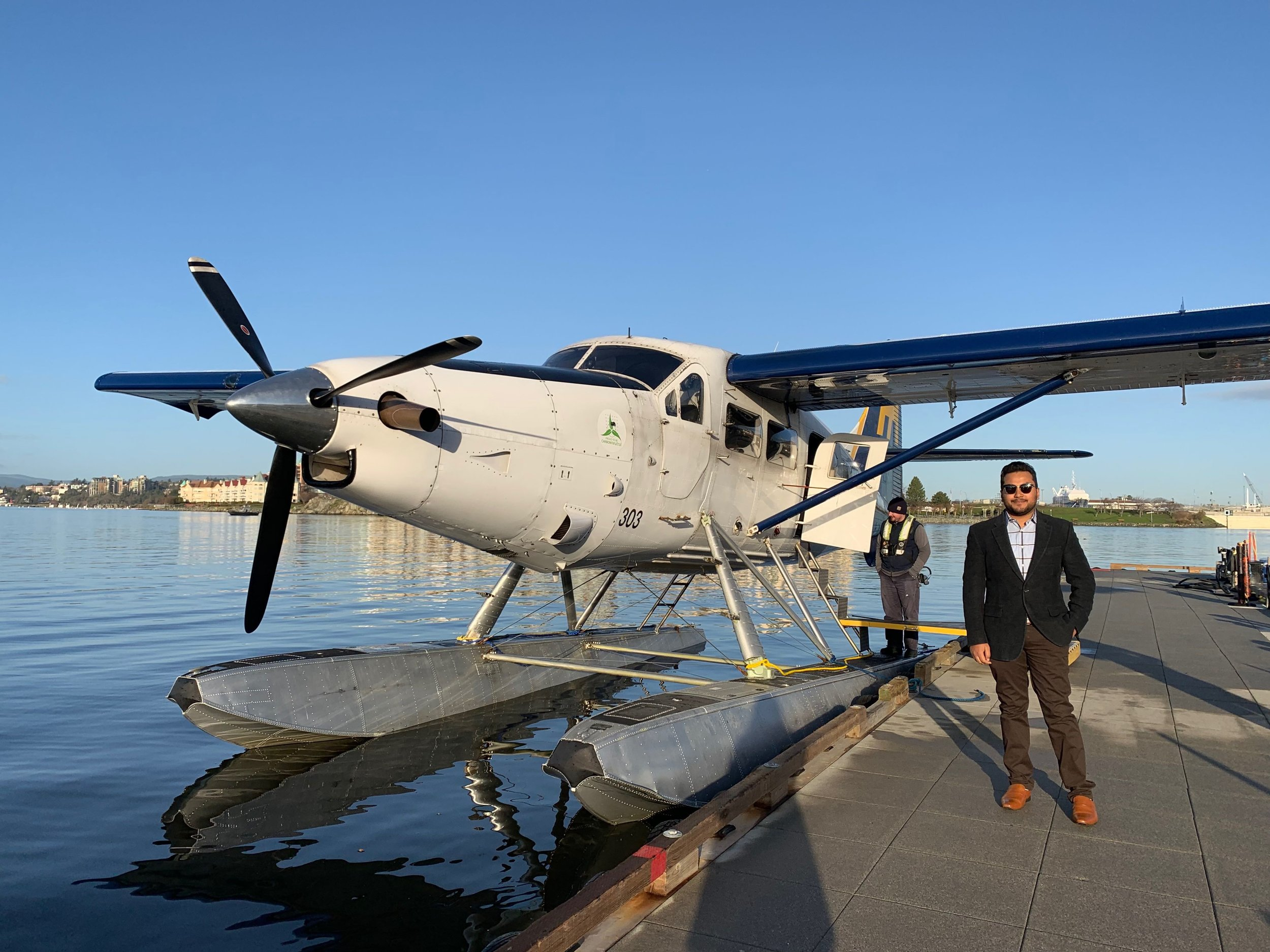 iOS developer Tushar on the way to Vancouver to meet with Harbour Air to discuss progress.