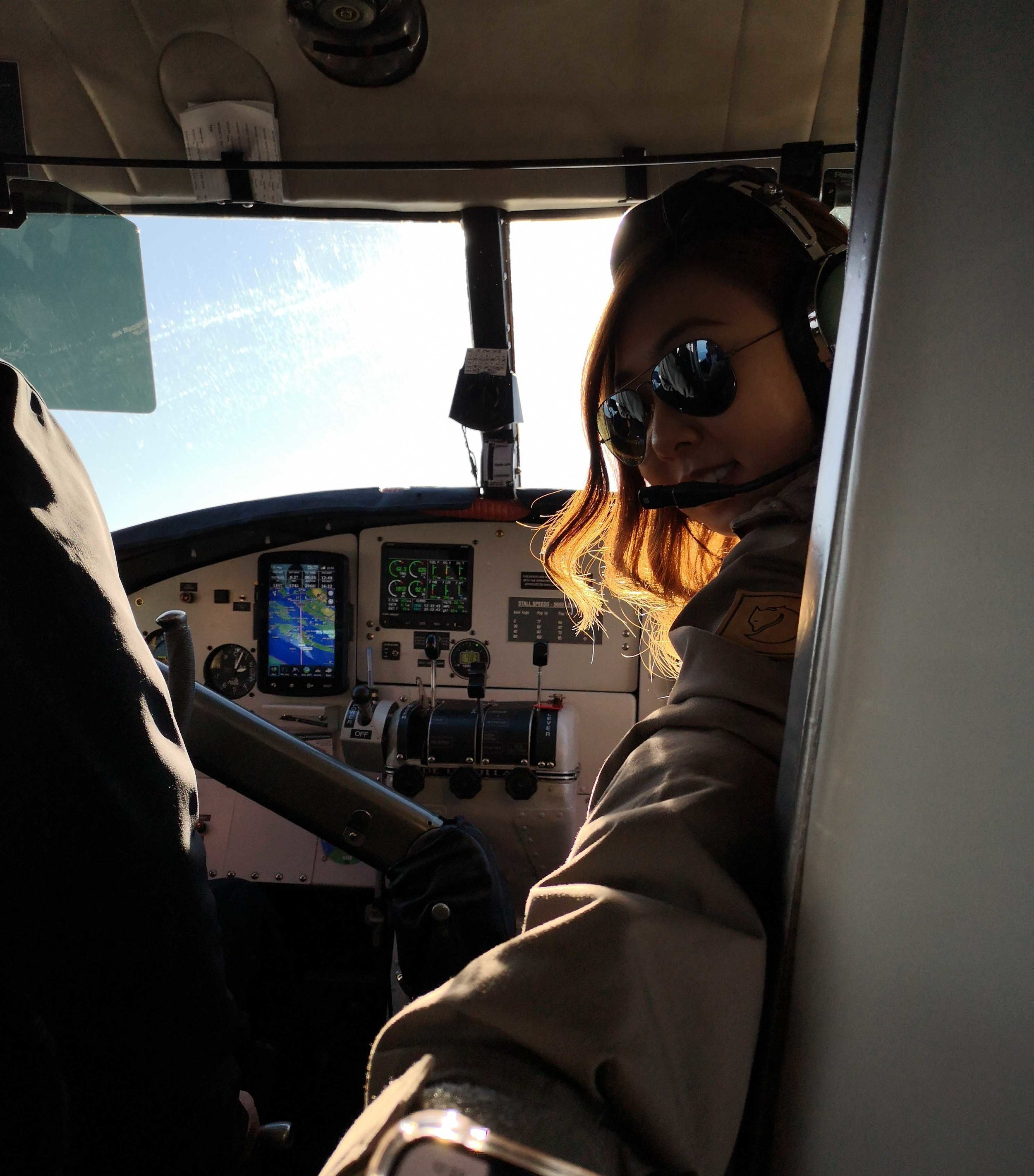 Our designer Judy flew to Vancouver in the co-pilot seat for a design meeting with the team Harbour Air.