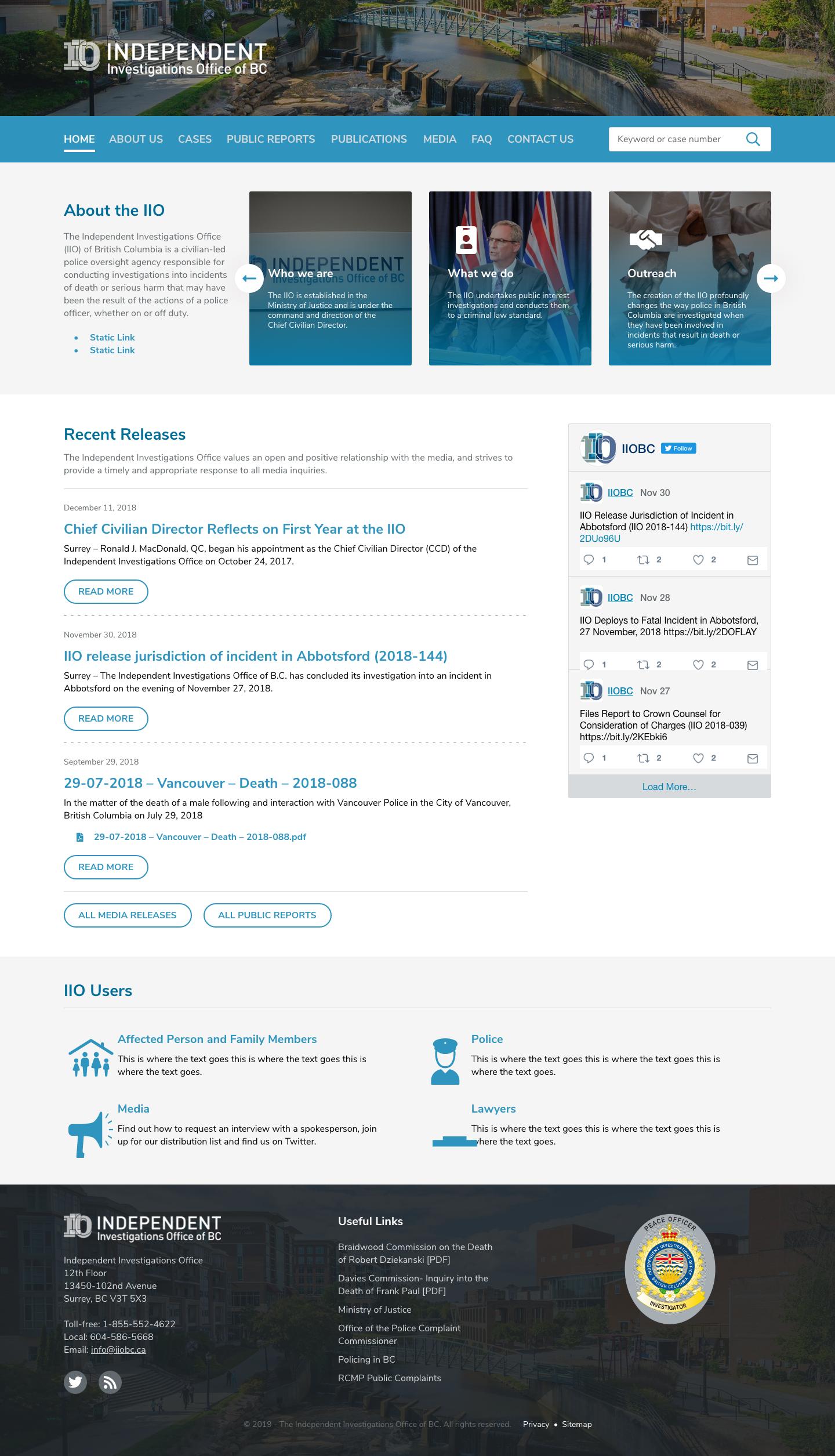 IIO Homepage