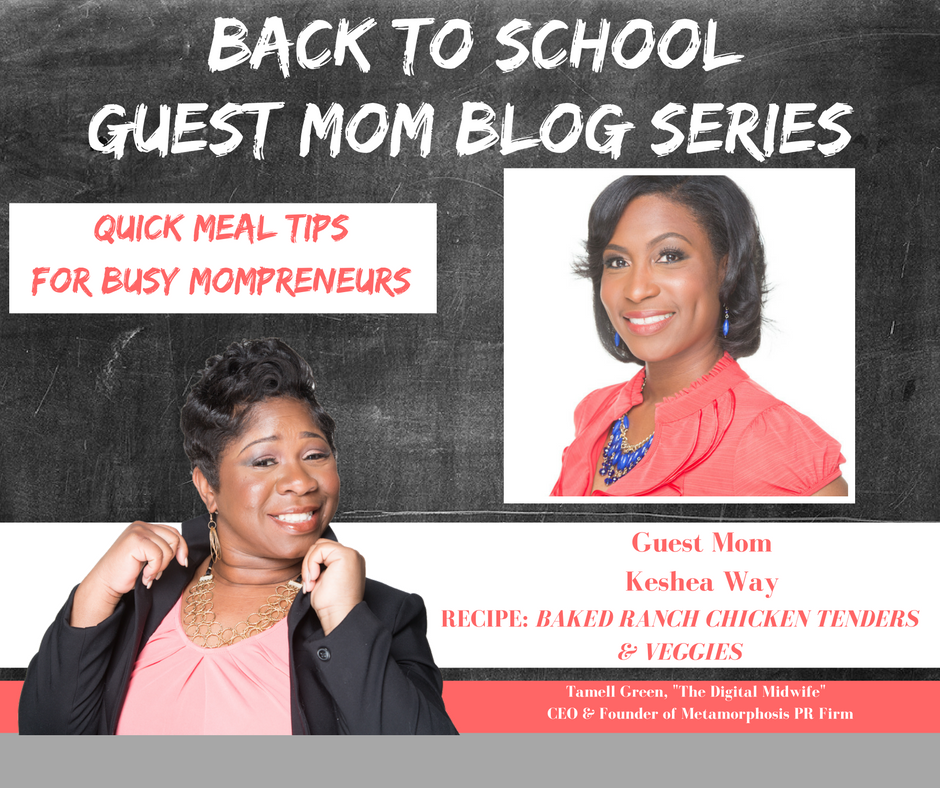 """Hey Moms!  It's  BACK TO SCHOOL TIME !!!  That means so many things for families, but we want to highlight one of those and that is  QUICK & EASY recipes for busy Mompreneurs . Often times, busy doesn't always mean productive, but with a bit of help and organization we become busy, BUT PRODUCTIVE Mompreneurs.  To help me do this, I have enlisted the help of some very enthusiastic Moms! They have provided their family's favorite quick, easy, & healthy meals!"" - Tamell Green"