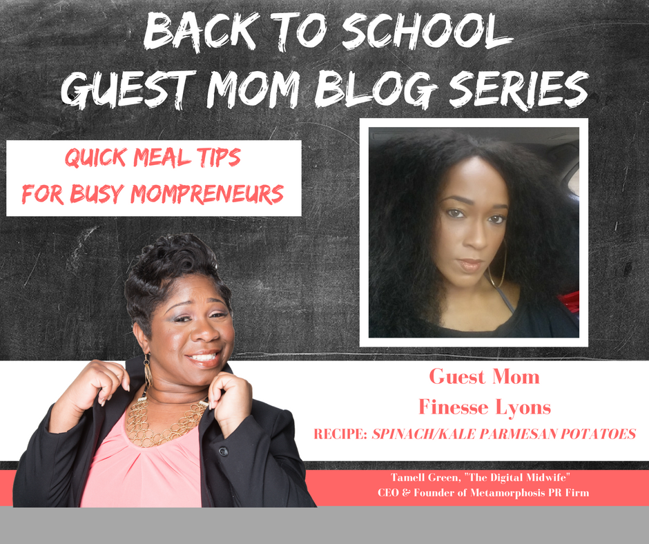"""Hey Moms!  It's  BACK TO SCHOOL TIME !!!  That means so many things for families, but we want to highlight one of those and that is  QUICK & EASY   recipes for busy Mompreneurs . Often times, busy doesn't always mean productive, but with a bit of help and organization, we become busy, BUT PRODUCTIVE Mompreneurs.  To help me do this, I have enlisted the help of some very enthusiastic Moms!   They have provided their family's favorite quick, easy, & healthy meals !""- Tamell Green"