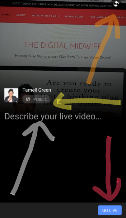 Facebook Live Tutorial Tamell Green