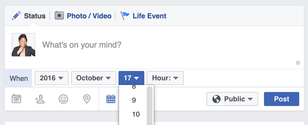 Facebook profile scheduling