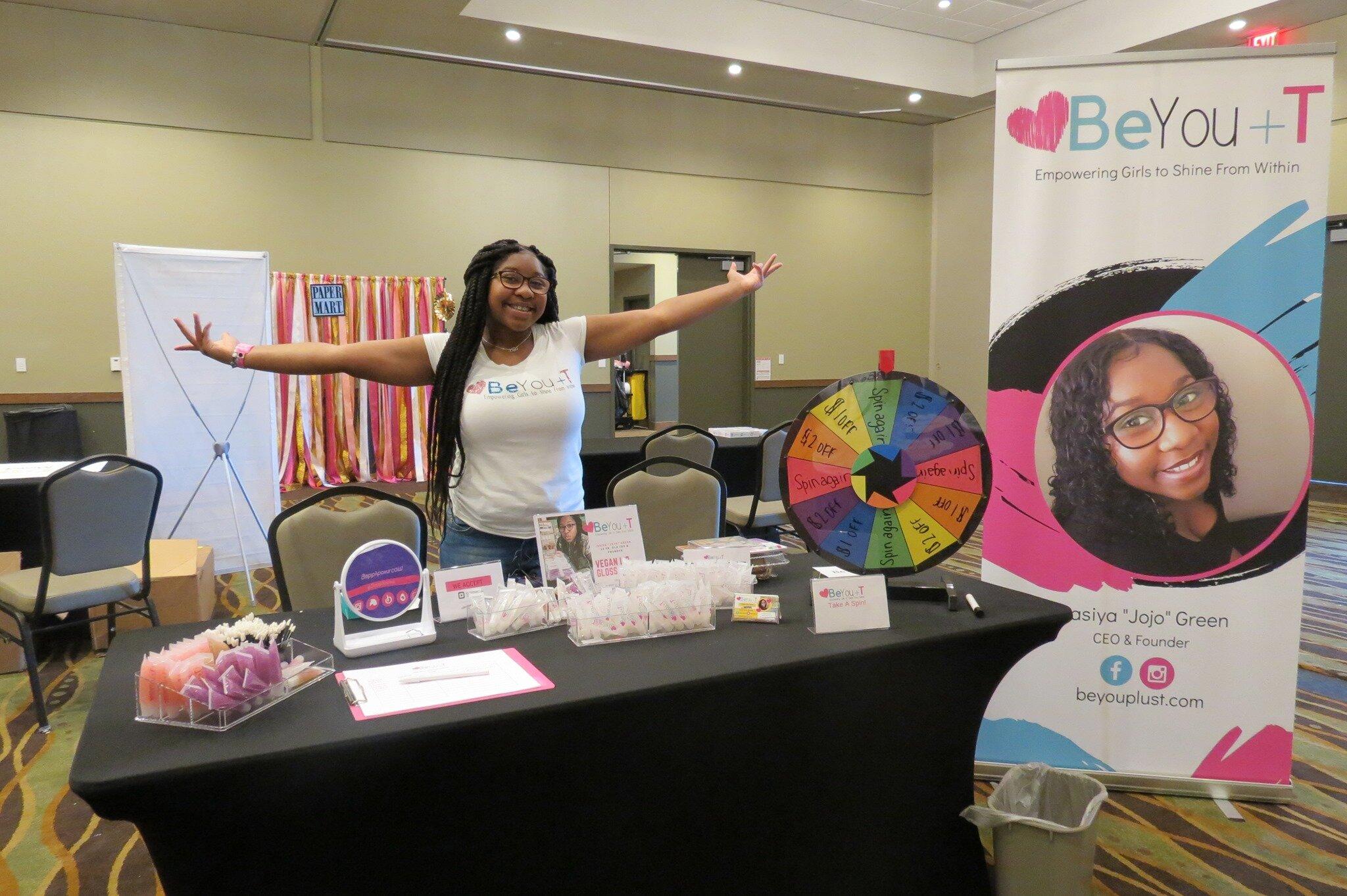 Jasiya Jojo Green Teenpreneur and Founder of a Vegan lip gloss line