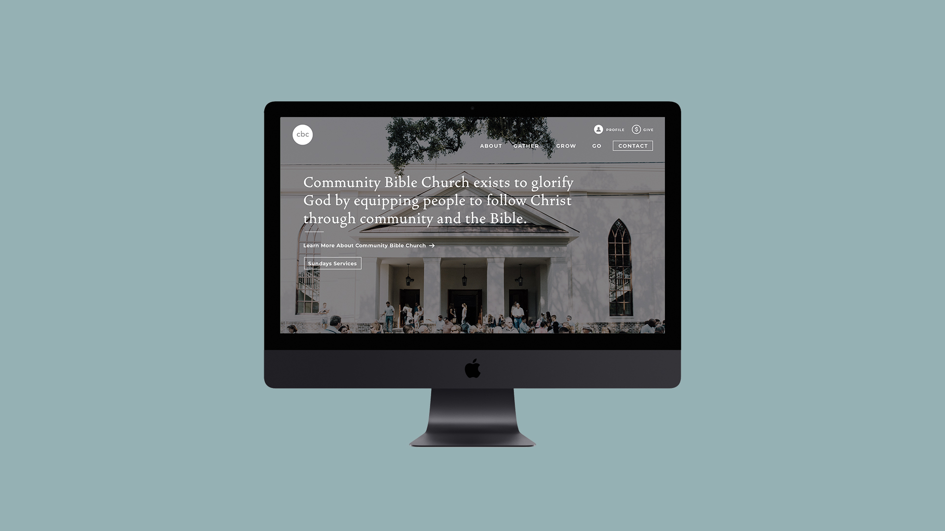 Community Bible Church Website Redesign - Community Bible Church is a large non-denominational church located in Savannah, Ga. Their highest values are teaching the Bible and fostering a community that takes care of each other and looks outward to their city and the rest of the world. The website is currently being built. For a preview visit www.cbcsavannah.co