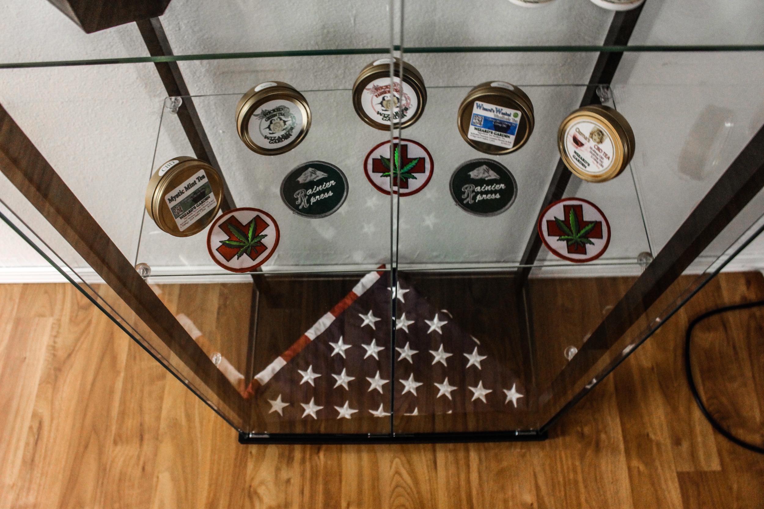 Twenty22Many Rainier Express Veteran Cannabis Patches and US Flag