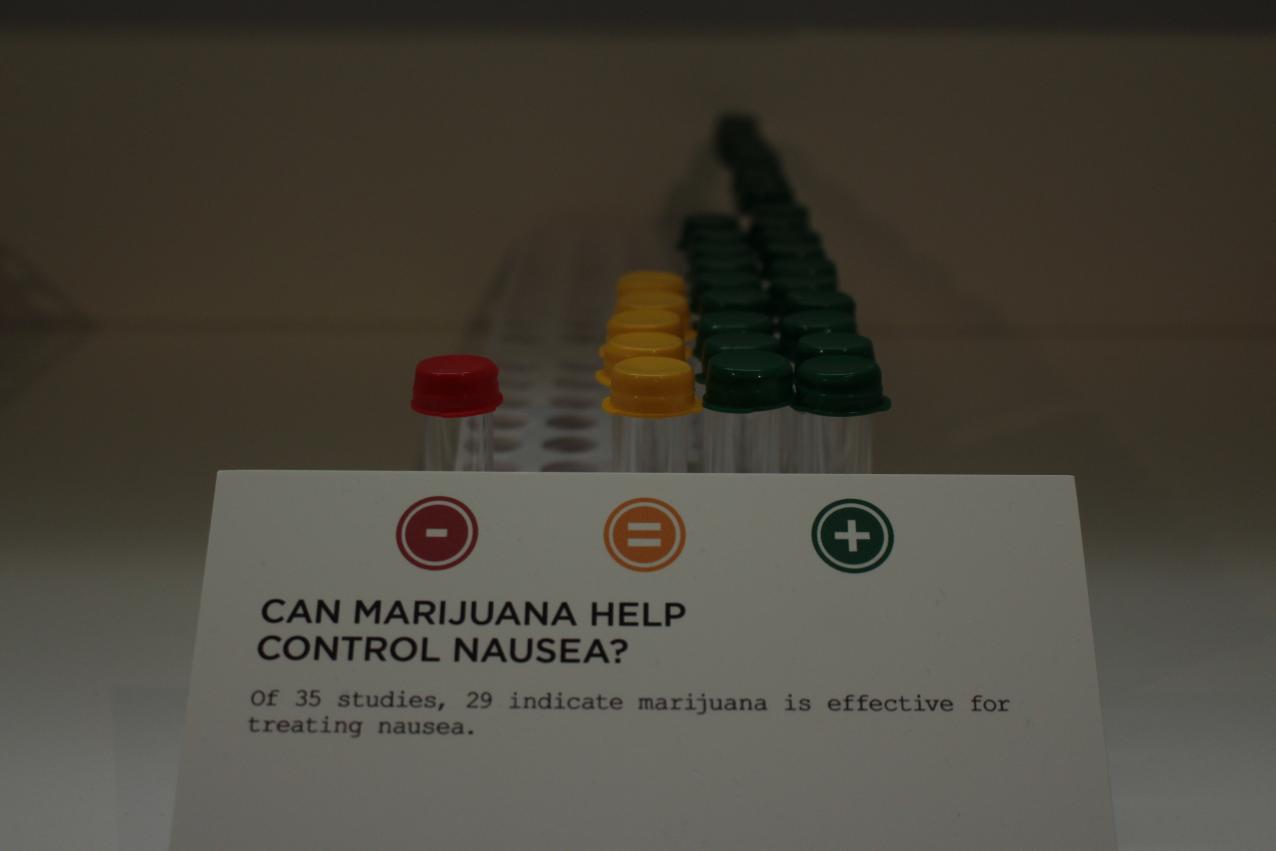 Can marijuana help control nausea studies at oakland museum of california