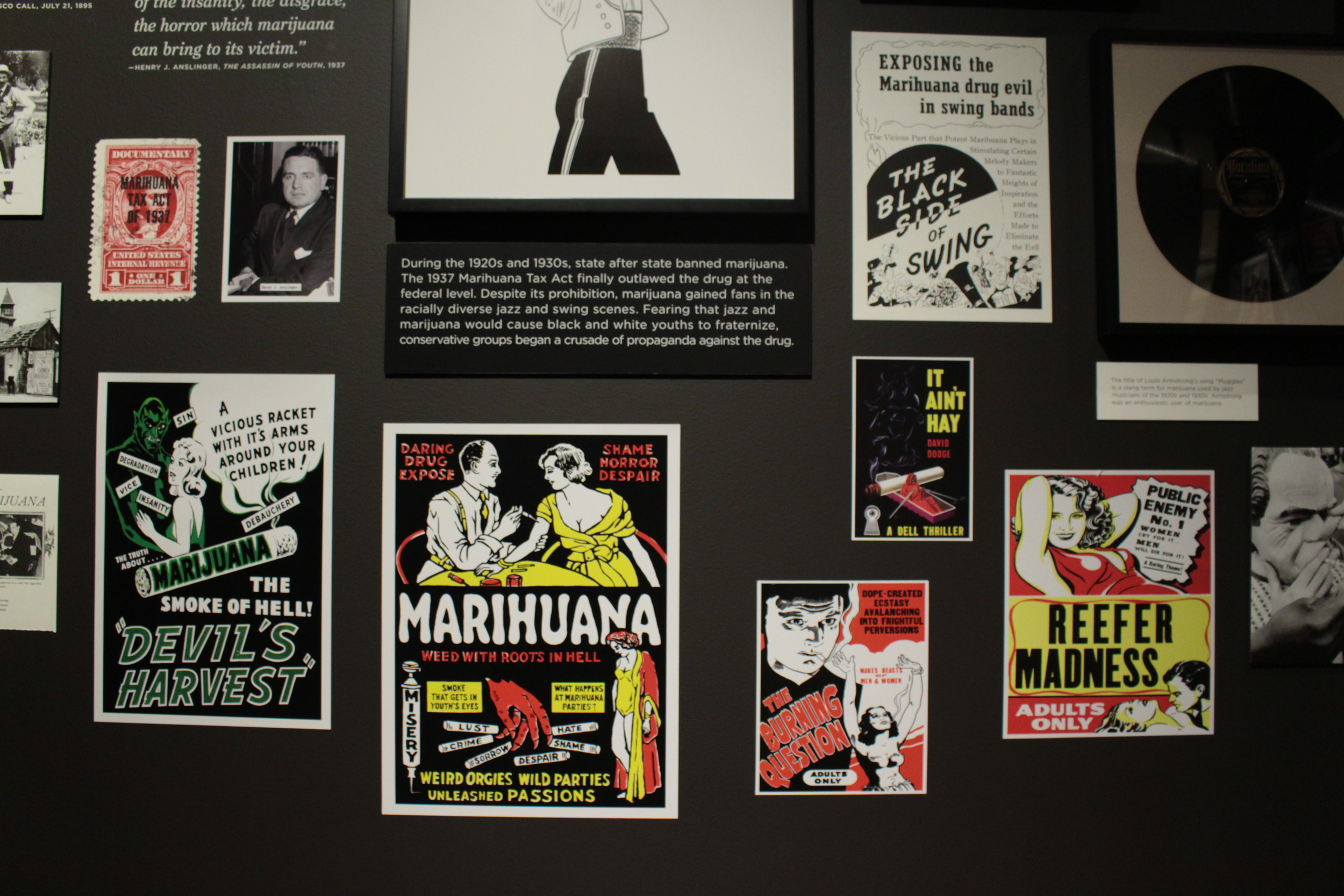 marijuana propoganda at oakland museum of cailfornia