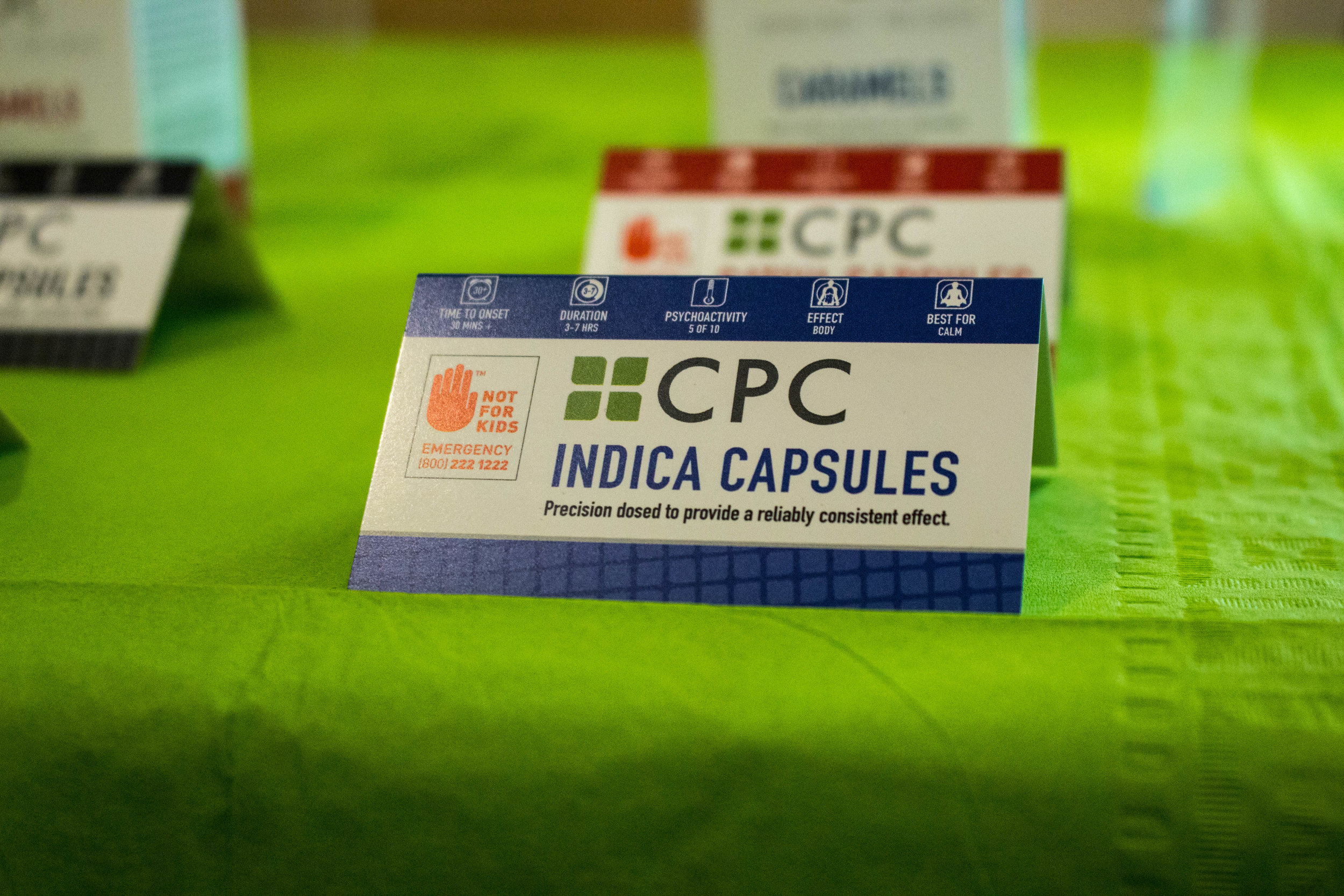 The CPC Indica Cannabis Capsule Packaging