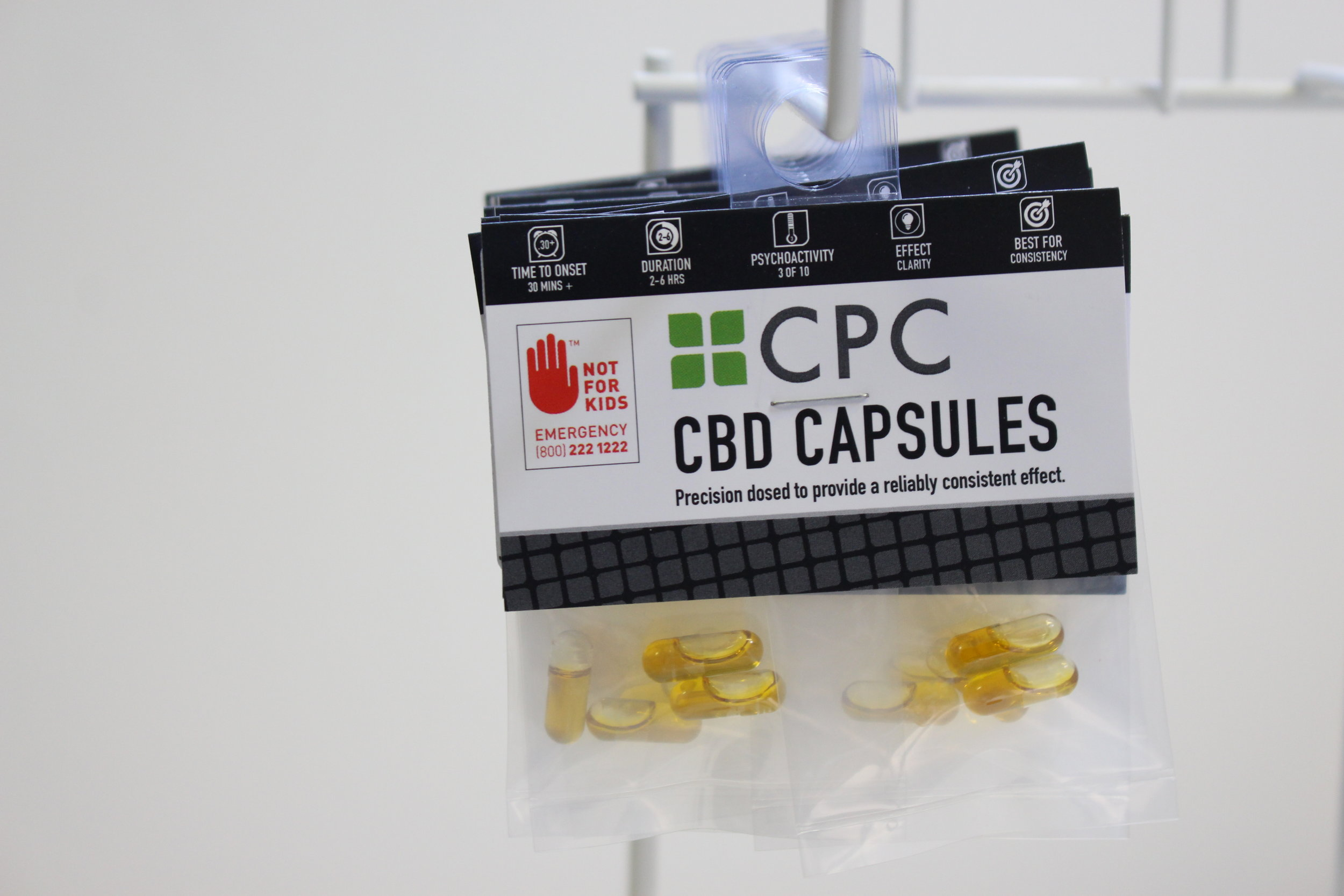Pack of Four 5mg CBD / 5mg THC capsules