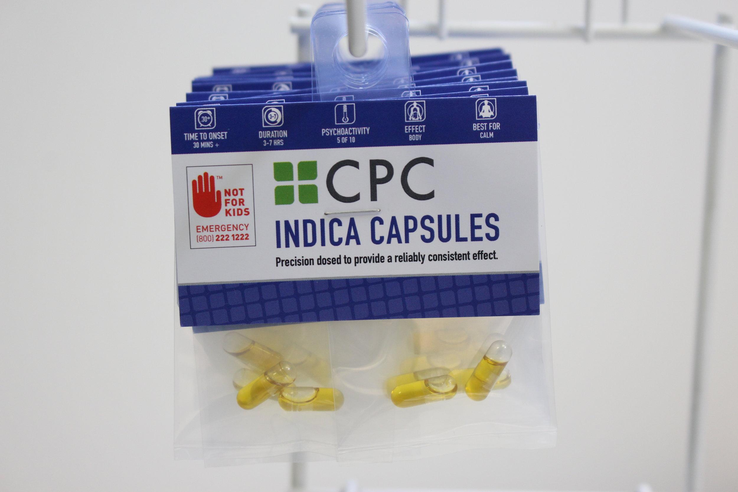 Four 5mg THC Indica Capsules