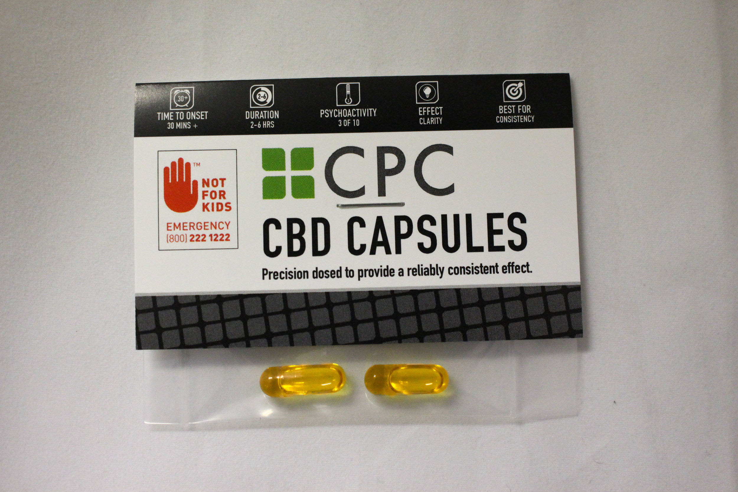 Two 5mg CBD & 5mg THC Capsules