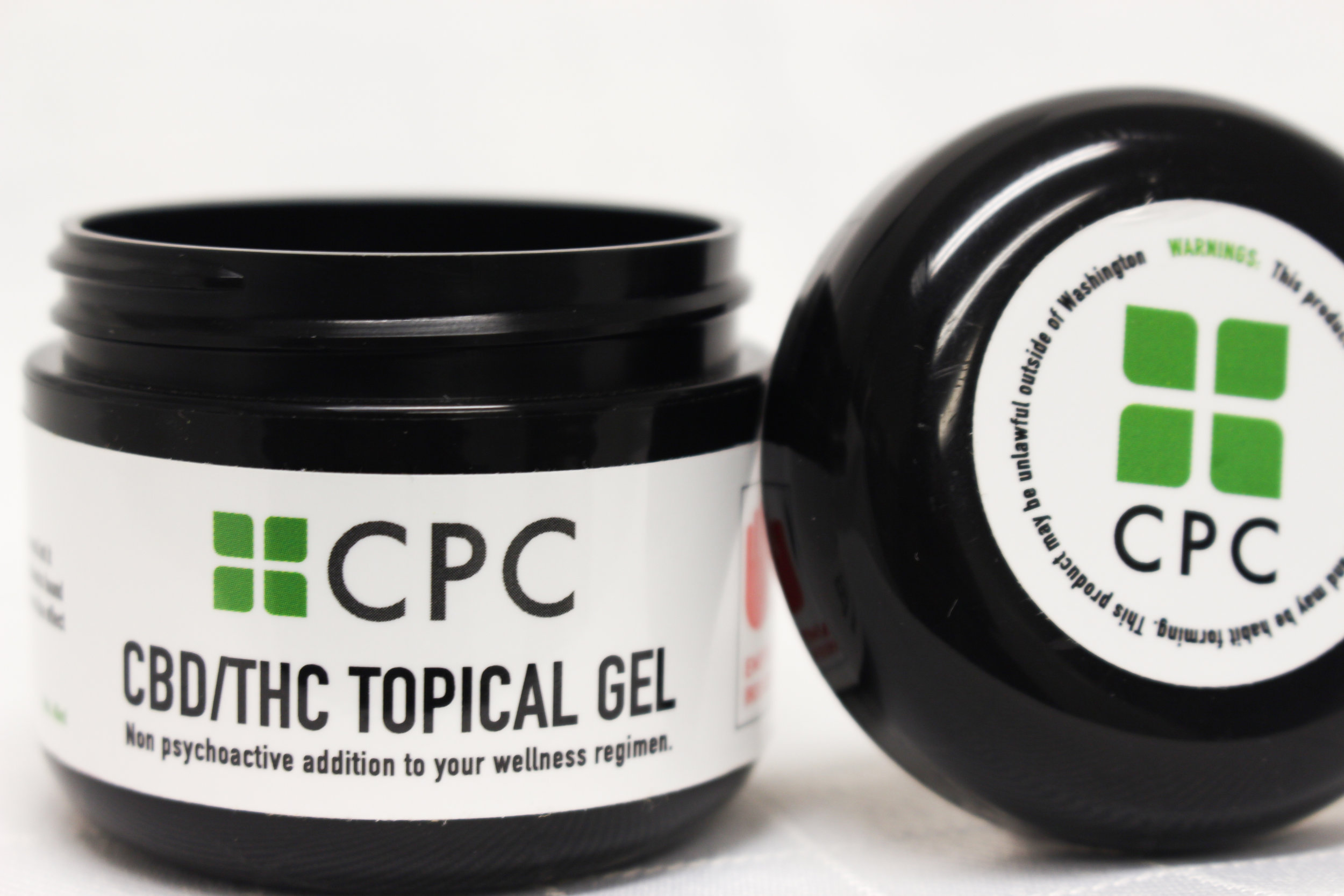 Jar of Cannabis Infused Topical Gel 60mg CBD & 60mg THC Total