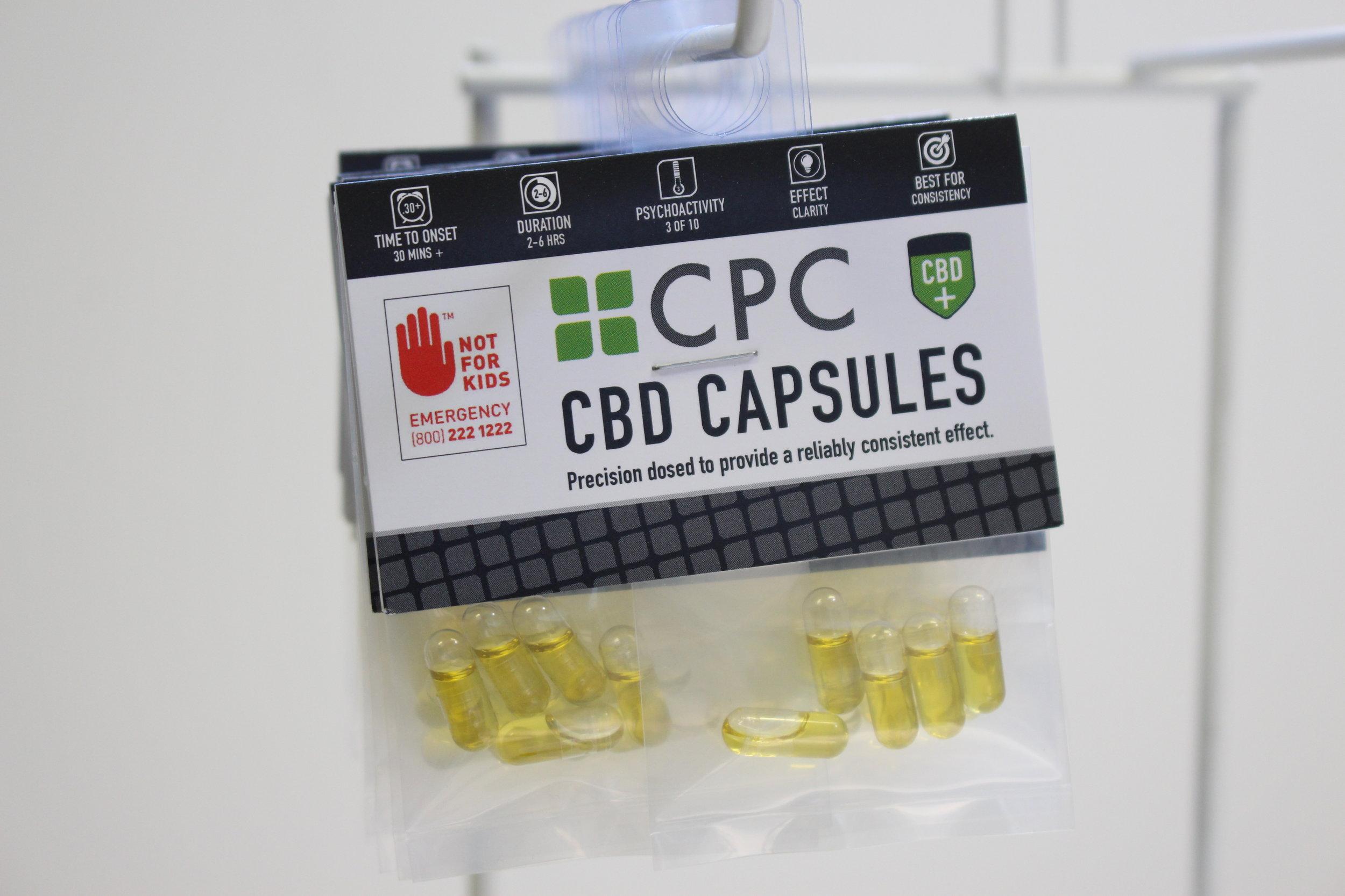 high CBD cannabis oil capsules