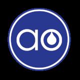 AO Blue dot logo