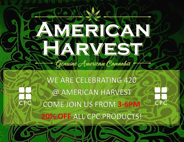 Today is the day! Come celebrate 420 with us @americanharvestcannabis  We will be there from 3-6PM. We look forward to meeting you and talking about wellness. One of our co-founders will be there to answer any questions you have about our products and cannabis.  #i502retail #i502 #420seattle #420washington #wenatchee #cannabissaves #cannabiscommunity #cannabis #cannabisvendordaysrock