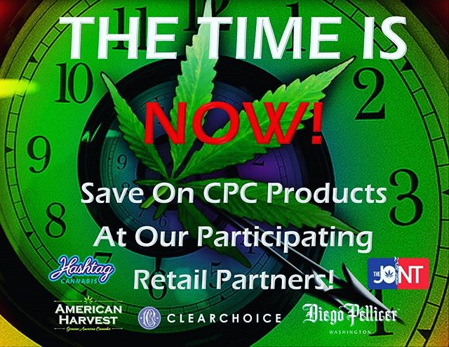 Today is the day! HAPPY 420!!!! Thank you to our participating partners in celebrating with The CPC. @americanharvestcannabis @clearchoicewa @chimacumcannabis @seattle.hashtag @thejointsea @thejointwenatchee @dp_washington  To all our other amazing partners, thank you for all your support. We wish you an amazing and successful day! HAPPY 420 to you all. Your partnership means the world to us. Now go and rock this day! Much love and appreciation. #420seattle #420 #wellness #health #cannabissaveslives #seattlewa #seattle #chimacum #wenatchee #redmond #weloveourpartners